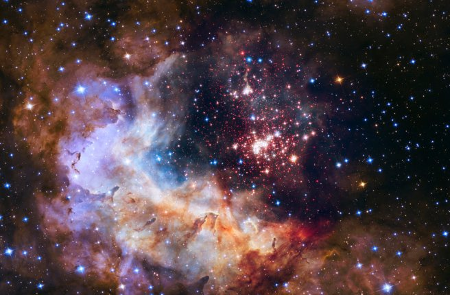 NASA handout photo of a stellar nursery located about 20,000 light-years from the planet earth in the constellation Carina